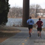 Runners take advantage of Cedar Lake paved trails